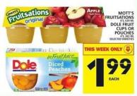 Mott's Fruitsations Or Dole Fruit Cups Or Pouches