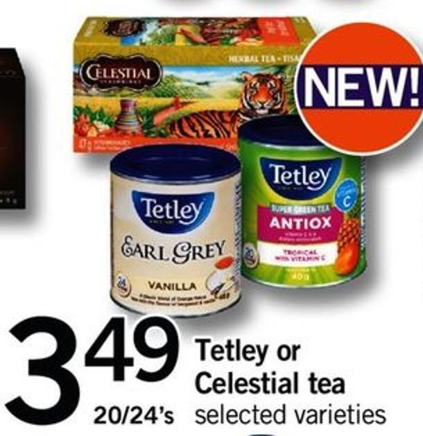 Tetley Or Celestial Tea - 20/24's
