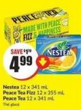 Nestea 12 X 341 mL Peace Tea Fizz 12 X 355 mL Peace Tea 12 X 341 mL