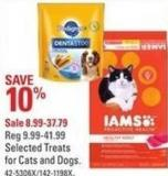 Selected Treats For Cats and Dogs
