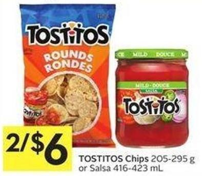 Tostitos Chips 205-295 g or Salsa 416-423 mL