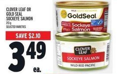 Clover  Leaf Or Gold Seal Sockeye Salmon