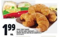 Front Street Bakery All Butter Large Croissants - Oakrun English Muffins Or Crumpets