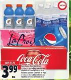 Coca-cola Or Pepsi Soft Drinks 12 X 355 Ml - 6 X 710 Ml Or Gatorade 6 X 591 Ml Or Aquafina 6 X 710 Ml Or La Croix 8 X 355 Ml