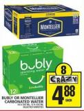 Bubly Or Montellier Carbonated Water