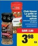 Club House La Grille Or One Step Spices - 111-203 g