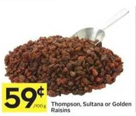 Thompson - Sultana or Golden Raisins