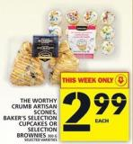 The Worthy Crumb Artisan Scones - Baker's Selection Cupcakes Or Selection Brownies