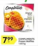 Compliments Frozen Waffles