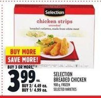Selection Breaded Chicken