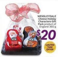 Wensleydale Cheese Holiday Characters Gift Pack Product of England