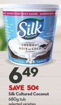 Silk Cultured Coconut 680g Tub