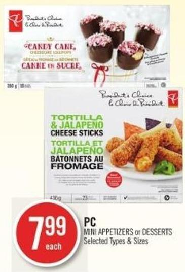 PC Mini Appetizers or Desserts