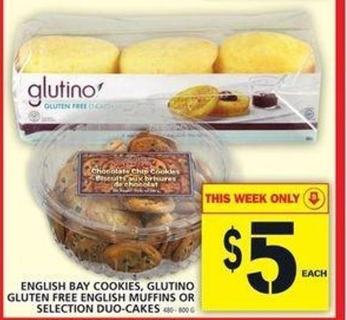 English Bay Cookies - Glutino Gluten Free English Muffins Or Selection Duo-cakes