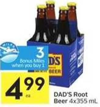 Dad's Root Beer - 3 Air Miles Bonus Miles