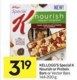 Kellogg's Special K Nourish or Protein Bars or Vector Bars 144-200 g