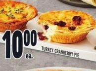 Turkey Cranberry Pie