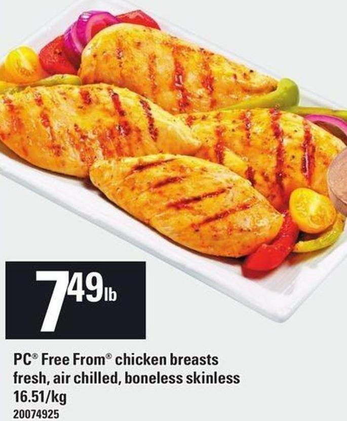 PC Free From Chicken Breasts Fresh - Air Chilled - Boneless Skinless