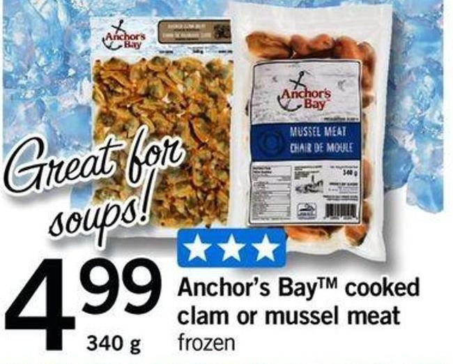 Anchor's Bay Cooked Clam Or Mussel Meat - 340 G