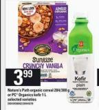 Nature's Path Organic Cereal - 284/300 g Or PC Organics Kefir - 1 L