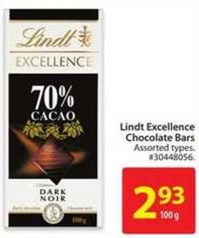 Lindt Excellence Chocolates Bars
