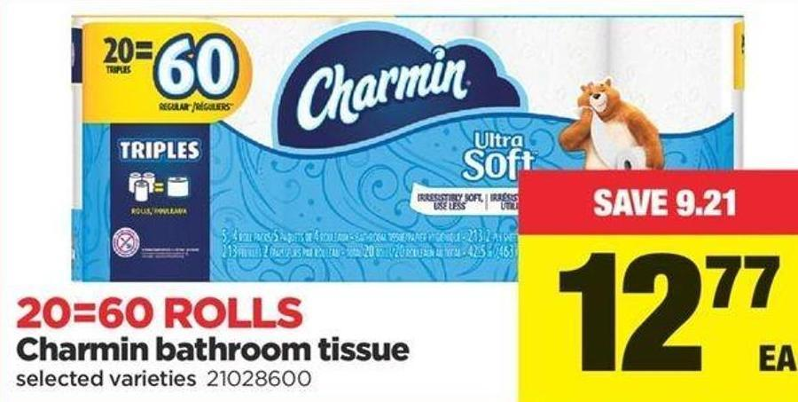 Charmin Bathroom Tissue - 20=60 Rolls