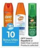 Off! Insect Repellent - 10 Air Miles Bonus Miles