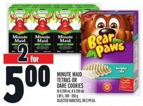 Minute Maid Tetras Or Dare Cookies