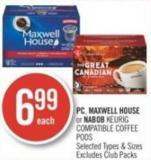 PC - Maxwell House or Nabob Keurig Compatible Coffee PODS