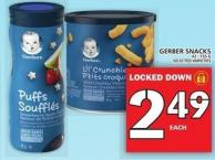 Gerber Snacks 42 - 155 G