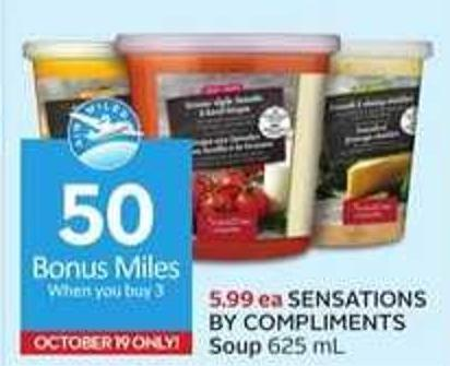 Sensations By Compliments Soup - 50 Air Miles