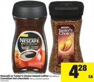 Nescafé Or Taster's Choice Instant Coffee - 100-396 G Or Carnation Hot Chocolate - 450 G