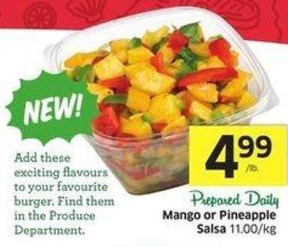 Mango or Pineapple Salsa 11.00/kg