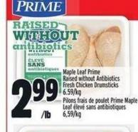 Maple Leaf Prime Raised Without Antibiotics Fresh Chicken Drumsticks | Pilons Frais De Poulet Prime Maple Leaf ÉLevé Sans Antibiotiques