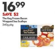 The Keg Frozen Bacon Wrapped  Sea Scallops 340g