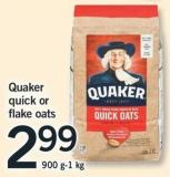 Quaker Quick Or Flake Oats