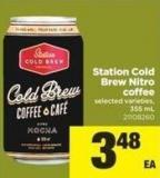 Station Cold Brew Nitro Coffee - 355 mL