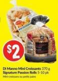 Di Manno Mini Croissants 370 g Signature Passion Rolls 5-10 Pk