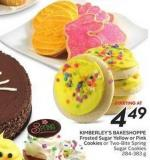 Kimberley's Bakeshoppe Frosted Sugar Yellow or Pink Cookies or Two-bite Spring Sugar Cookies 284-383 g