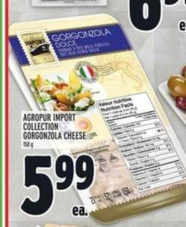 Agropur Import Collection Gorgonzola Cheese