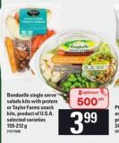 Bonduelle Single Serve Salads Kits With Protein Or Taylor Farms Snack Kits - 159-212 g