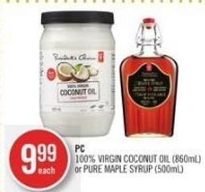 PC 100% Virgin Coconut Oil (860ml) or Pure Maple Syrup (500ml)