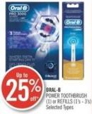 Oral-b Power Toothbrush (1) or Refills (1's - 3's)