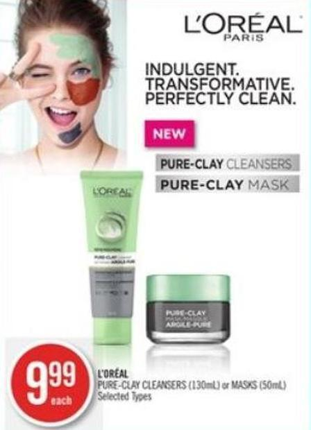 L'oréal Pure-clay Cleansers (130ml) or Masks (50ml)
