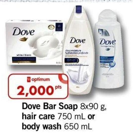 Dove Bar Soap - 8x90 G - Hair Care - 750 Ml Or Body Wash - 650 Ml