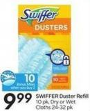 Swiffer Duster Refill  10 Pk - Dry or Wet Cloths 24-32 Pk - 10 Air Miles Bonus Miles