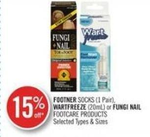 Footner Socks (1 Pair) Wartfreeze (200ml) or Fungi Nail Footcare Products