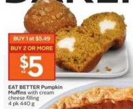 Eat Better Pumpkin Muffins With Cream Cheese Filling 4 Pk 440 g