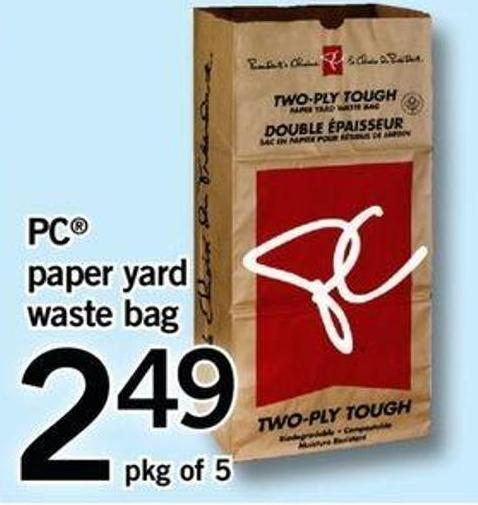 PC Paper Yard Waste Bag - Pkg Of 5