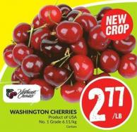 Washington Cherries Product of USA No. 1 Grade 6.11/kg